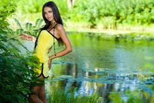 Free Woman Near The River Royalty Free Stock Images - 16341909