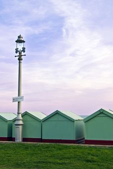 Free Lamp And  Beach Huts Stock Image - 16341921