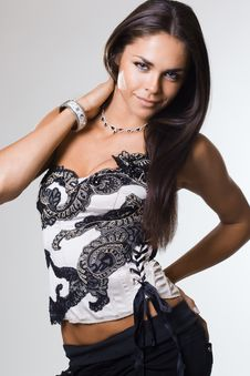 Free Fashionable Woman In A Corset Royalty Free Stock Photo - 16341965