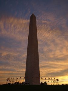 Free Washington Monument At Dawn Stock Photo - 16341980