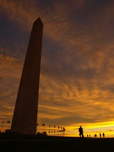 Free Washington Monument At Dawn Royalty Free Stock Image - 16342196