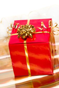 Free Red Gift Box Stock Photos - 16342323