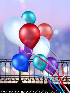 Free Multicolored Balloons Royalty Free Stock Photo - 16342575