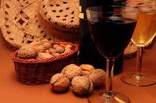 Free Wine On Table Stock Photo - 16342880