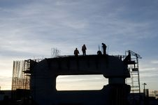 Construction Silhouette Royalty Free Stock Photography