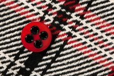 Free Red Button On Checked Fabric Royalty Free Stock Photo - 16343675