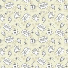 Free Seamless Coffee Pattern Royalty Free Stock Images - 16344009