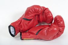 Free Red Boxing Gloves Stock Photo - 16344470