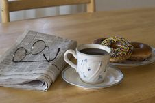 Free Coffee And Donuts Royalty Free Stock Images - 16344479