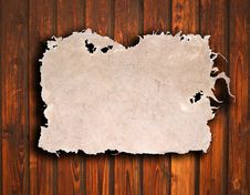 Free Old Paper On Brown Wood Texture Royalty Free Stock Photos - 16344688