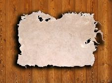 Free Old Paper On Brown Wood Texture With Natural Patte Stock Images - 16344694