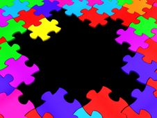 Free Puzzle Frame Royalty Free Stock Image - 16345006