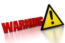 Free Warning Sign Royalty Free Stock Photo - 16345065