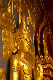 Free Gloden Thai Sculpture Stock Image - 16345261