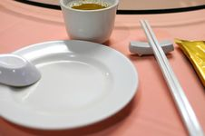 Free Chinese Restaurant Table Layout Royalty Free Stock Photo - 16345385
