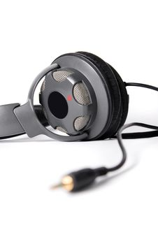 Free Isolated Powerful Stereo Headphones Royalty Free Stock Photos - 16346608