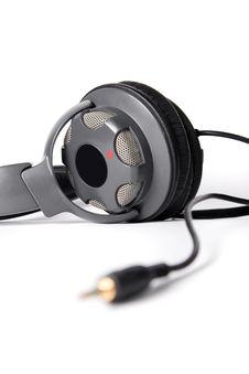 Isolated Powerful Stereo Headphones Royalty Free Stock Photos
