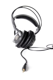 Free Isolated Powerful Stereo Headphones Royalty Free Stock Image - 16346616