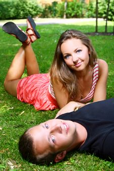 Free Couple In Park Stock Photography - 16346982