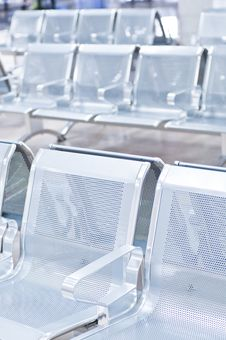 Free Empty Airport Chairs Stock Image - 16347071