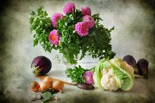 Free Bouquet From Parsley And Flowers Stock Photo - 16347130
