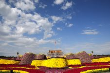 Tiananmen Square In Holiday With Flower Decoration Royalty Free Stock Photos