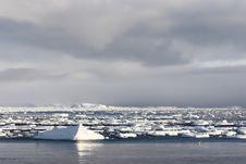 Free Arctic Landscape, Frozen Fjord Stock Images - 16348604