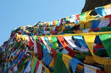 Free Prayer Flags In Tibet Stock Photography - 16348792