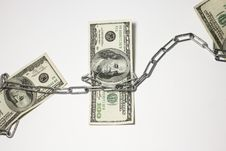 Dollars In Chains Royalty Free Stock Image