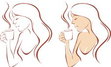 Free Female Drinking Coffee Stock Images - 16349304