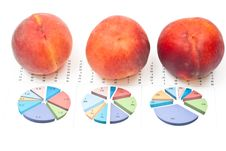 Free Peaches With Charts Royalty Free Stock Images - 16349809