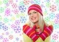 Free Seasonal Portrait Of Pretty Winter Woman Stock Images - 16352244