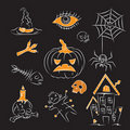Free Sketch Halloween Illustration Royalty Free Stock Photography - 16355377