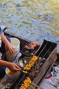 Free Cooking On Floating Market Stock Images - 16356354