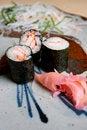 Free Japanese Sushi Dish. Royalty Free Stock Photos - 16357488