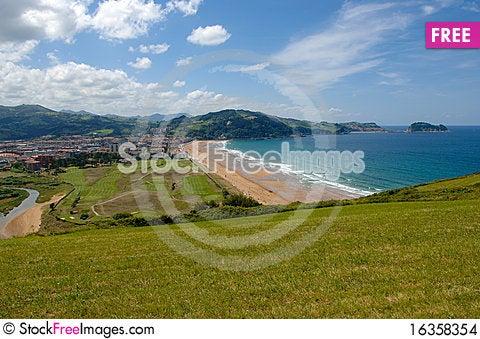 Free Bay Zarautz Stock Images - 16358354