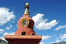 Red Pagoda In Tibet Royalty Free Stock Photography