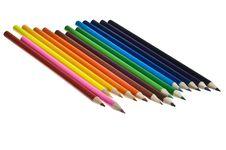Multi-colored Pencils Stock Photo