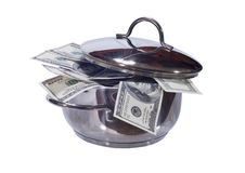Free Dollars In A Pan Stock Images - 16350124