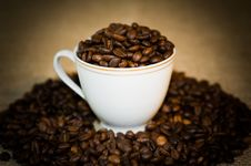 Free The Cup Full Of The Coffee. Stock Image - 16350181
