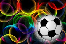 Football And Bright Rings Stock Image
