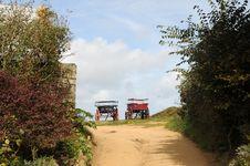 Free Carts Parked On Farm, Sark Stock Photography - 16350312