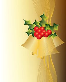 Free Golden Christmas Bells Stock Photography - 16350362