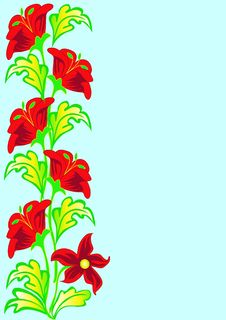 Free Vertical Background With  Flower Royalty Free Stock Images - 16350739