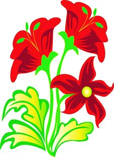 Free Bouquet With Red Flower Royalty Free Stock Photos - 16350778
