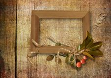 Free Old Frame On Wooden Background Royalty Free Stock Photos - 16350988