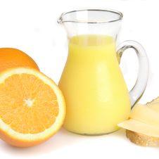 Breakfast With Orange Juice Royalty Free Stock Image
