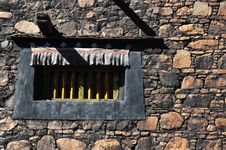 Free Tibetan Window In The Wall Stock Images - 16351994