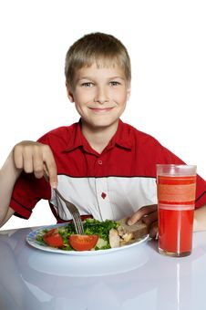 Free The Teenager Has Breakfast Royalty Free Stock Images - 16352009