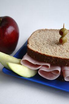 Free Ham Sandwich On Whole Wheat Royalty Free Stock Photography - 16353077
